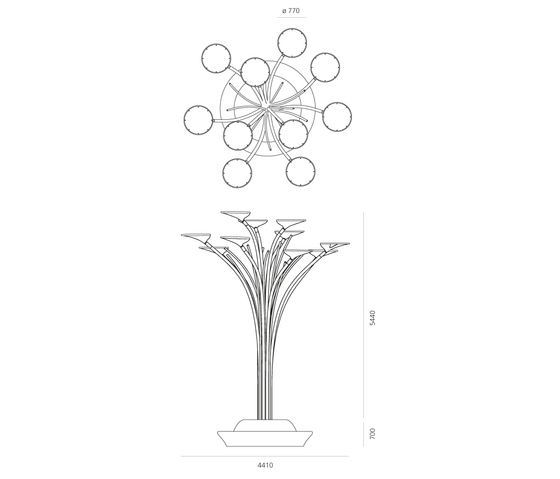 Solar Tree di Artemide Outdoor | Lampade LED
