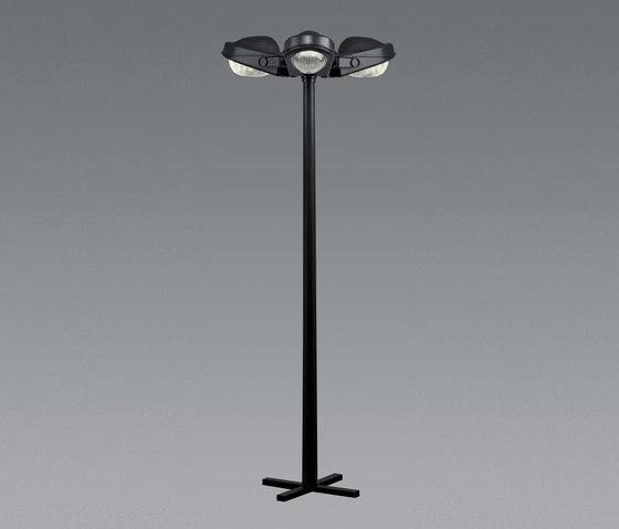 Felsina pole with 3 heads by Artemide Outdoor | Street lights