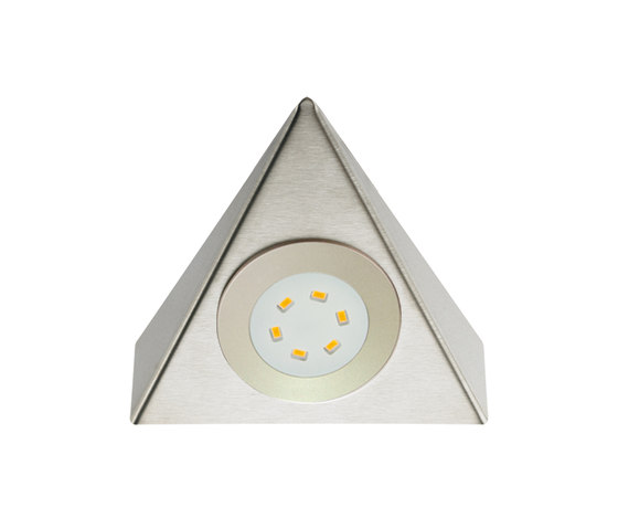 UL 2-LED - Triangular LED Under-Cabinet Luminaire in Stainless Steel by Hera | Under-cabinet lights