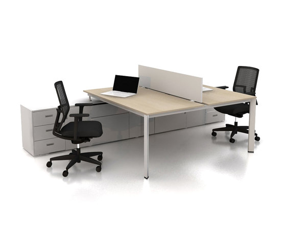 Plato Double Working Desk by Nurus | Desking systems