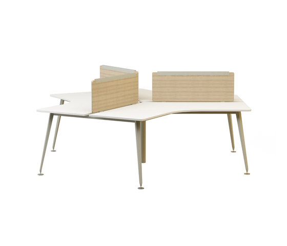Lunar Triple Working Desk de Nurus | Escritorios