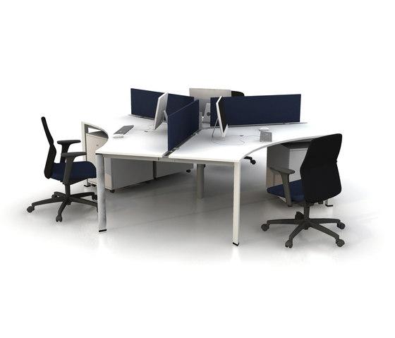 Plato Triple Working Desk de Nurus | Bureaux