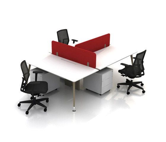 U too Double Desk by Nurus | Desking systems