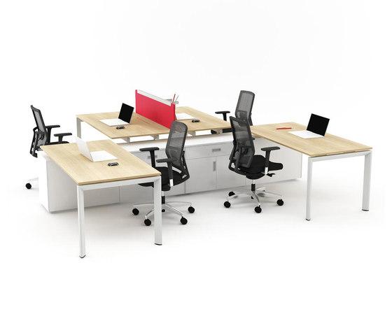 Silva Double Working System de Nurus | Bureaux individuels