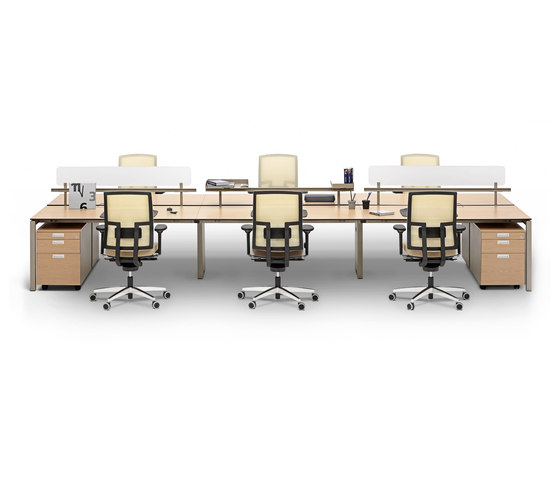 Silva Double Working System by Nurus | Desking systems