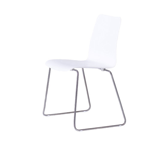 Slim Stackable Chair by Viteo | Garden chairs