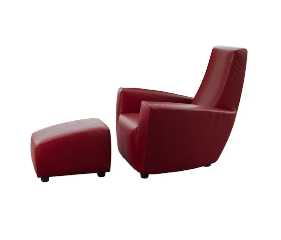 Longa armchair with footstool de Label | Sillones lounge