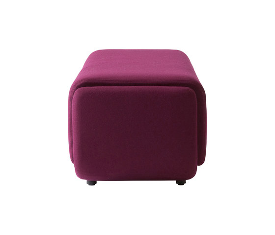 Basket pouf large by Softline A/S | Poufs