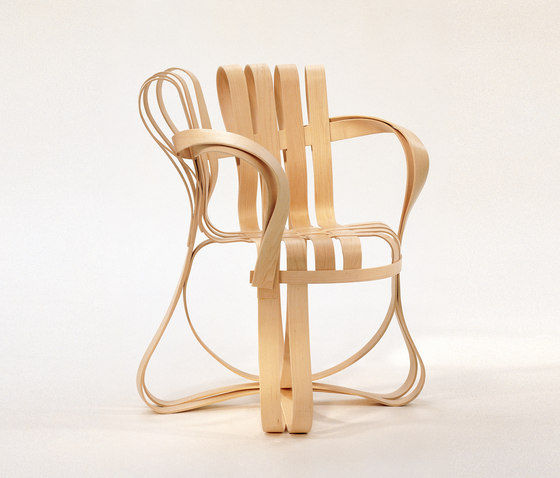 Gehry Fauteuil Cross Check de Knoll International | Chaises de restaurant