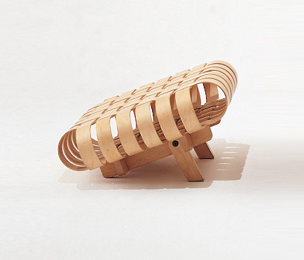 Gehry Off Side Ottoman by Knoll International  