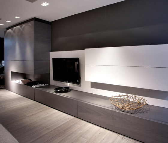 Interior | Fusion Basalt Grey by Neolith | Ceramic panels