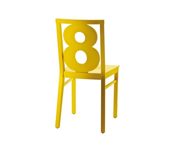 Numbers sedia di Billiani | Sedie ristorante