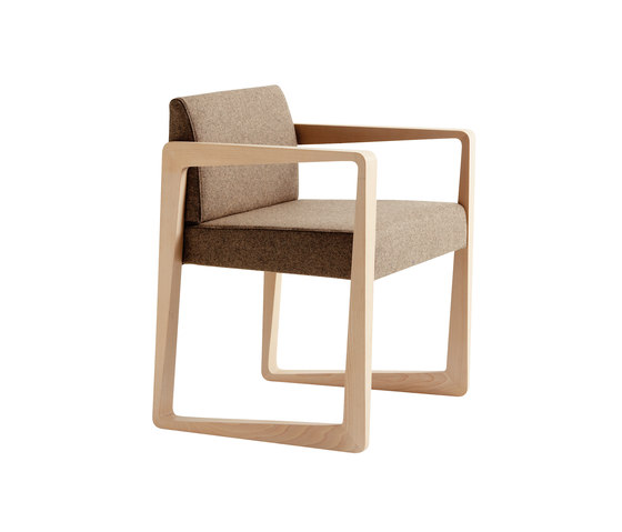 Askew armchair by Billiani | Visitors chairs / Side chairs