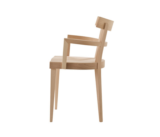 Cafè chair with armrests by Billiani | Classroom / School chairs