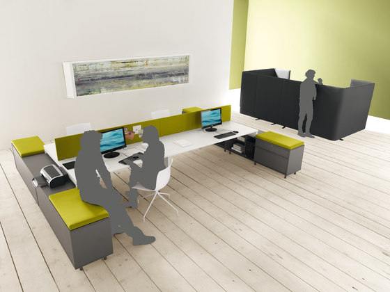 Work Up Bench by Martex | 2-persons workstations