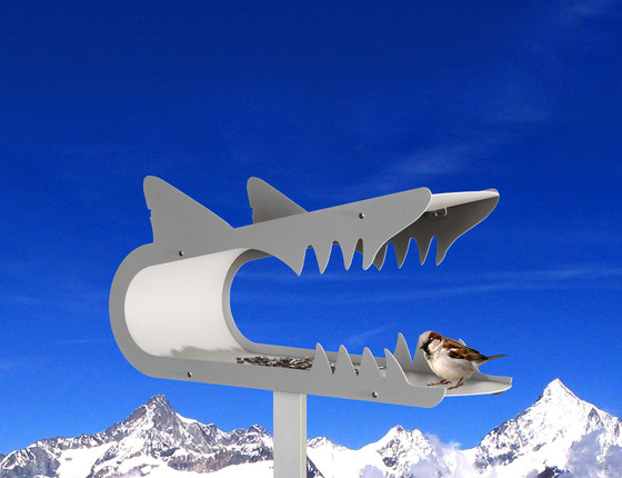 piepshow shark by Radius Design | Bird houses / feeders