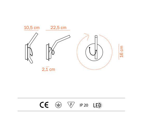 Flip LED - wall di Bernd Unrecht lights | Illuminazione generale