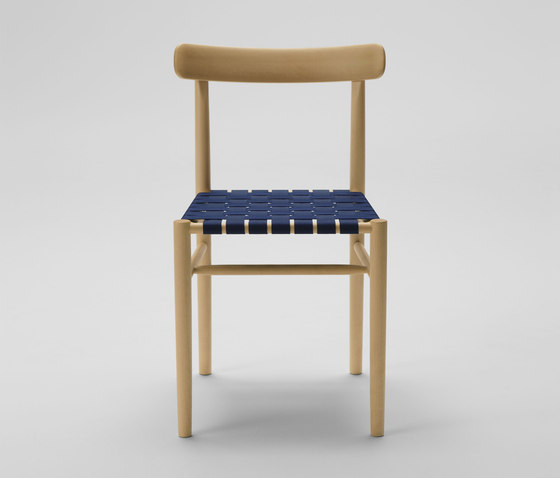 Lightwood Armless Chair (Webbing Seat) by MARUNI | Chairs