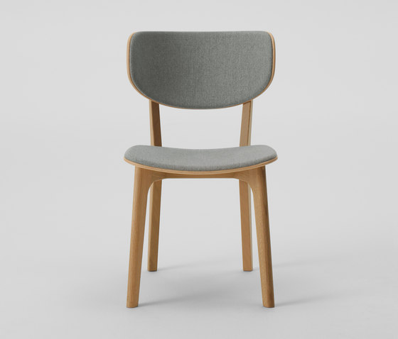 Roundish Armless Chair (Cushioned) by MARUNI | Restaurant chairs