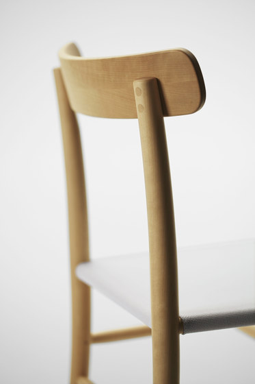 Lightwood Armless Chair (Mesh Seat) by MARUNI | Chairs