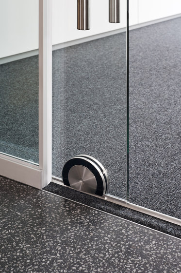 fecoplan sound-insulating all-glass sliding door di Feco | Acoustic doors