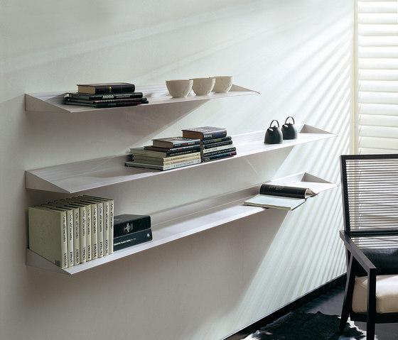 Epomeo di aico design mensole in alluminio librerie for Mensole ufficio