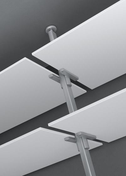 Epomeo di aico design mensole in alluminio librerie for Mensole in alluminio