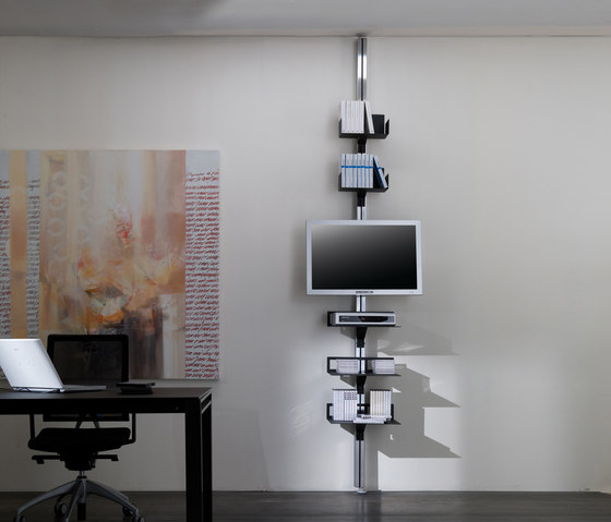 Totem di aico design porta libri a parete porta libri - Porta tv da soffitto ...