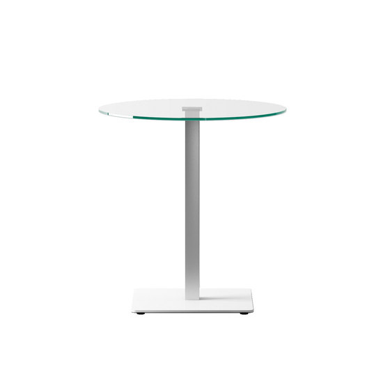Badá round cristal by Systemtronic | Standing tables