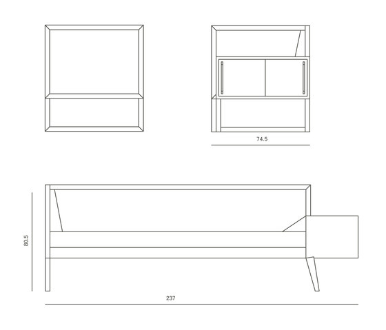 Sofa 'Sophie' de Raum B Architektur | Canapés-lits