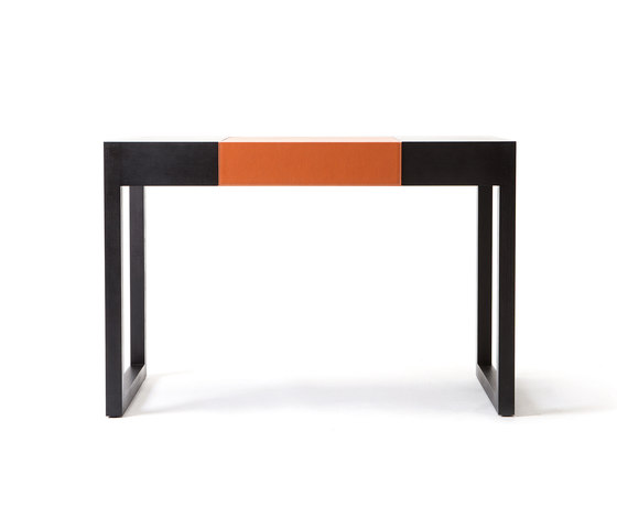 Rémy – Oak Stained, upholstered with orange calf leather by Wildspirit | Dressing tables