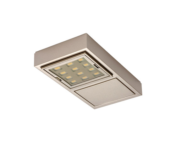 Vario LED 2 - Swivel and Tilt LED Under-Cabinet Luminaire by Hera | Spotlights