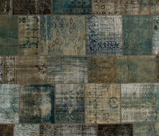 Patchwork by Golran  aqua  beige  black  blue  brown