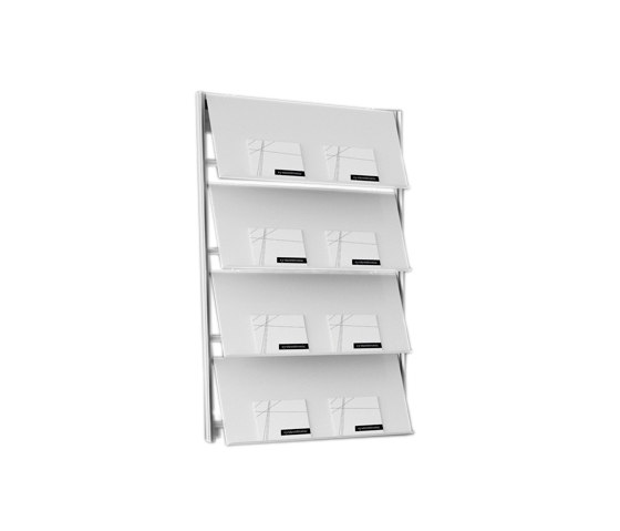Flap wall by Systemtronic | Magazine holders / racks
