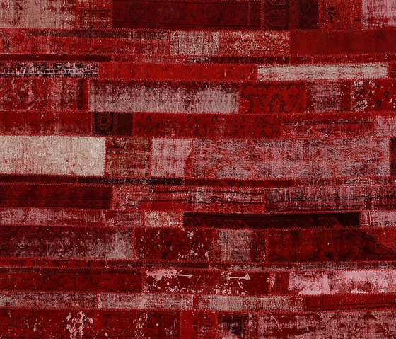 Patchwork Restyled red by GOLRAN 1898 | Rugs / Designer rugs