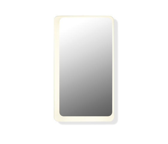 Mirror illuminated by HEWI | Wall mirrors