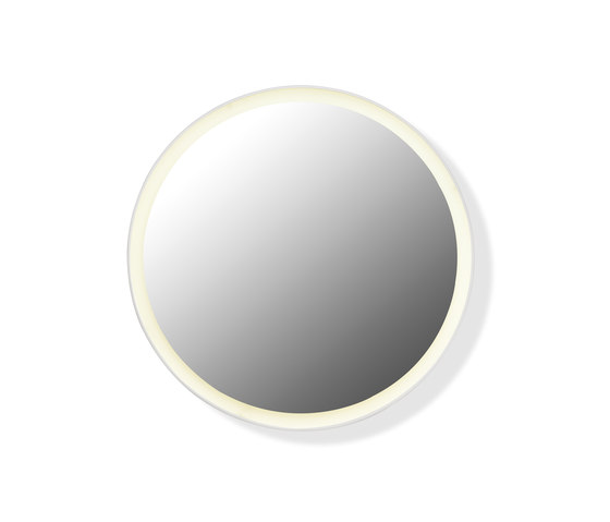 Mirror illuminated by HEWI   Wall mirrors