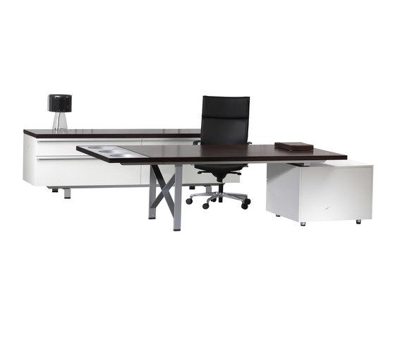 I|X Table white Theme di Nurus | Scrivanie direzionali