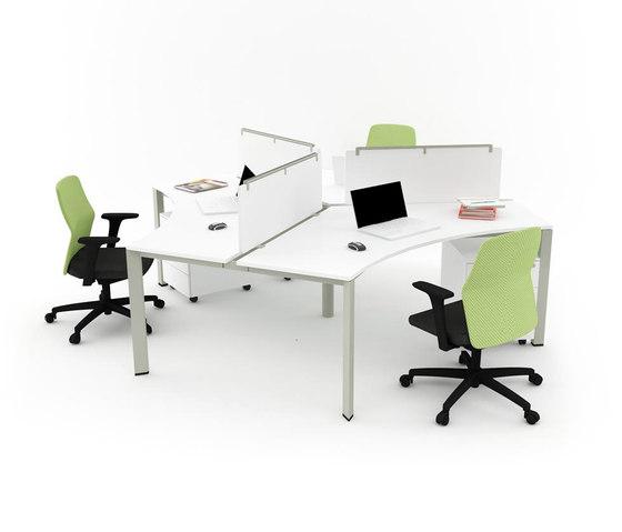 Plato Triple Working Desk de Nurus | Escritorios