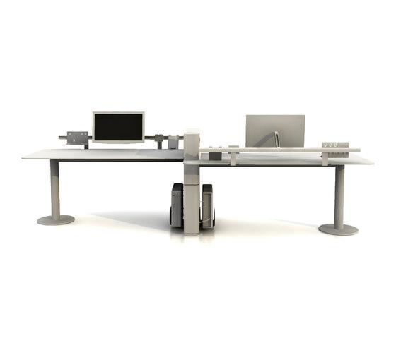Faces Double Desk by Nurus | Desking systems