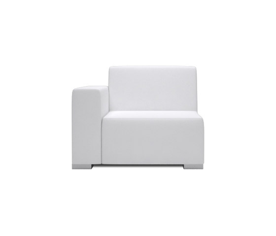 Block 80 1 Seat 1 arm by Design2Chill | Modular seating elements