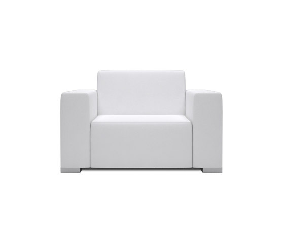 Block 80 1 Seat 2 arm di Design2Chill | Poltrone da giardino