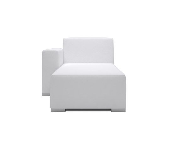 Block 80 Longchair 1 arm by Design2Chill | Modular seating elements