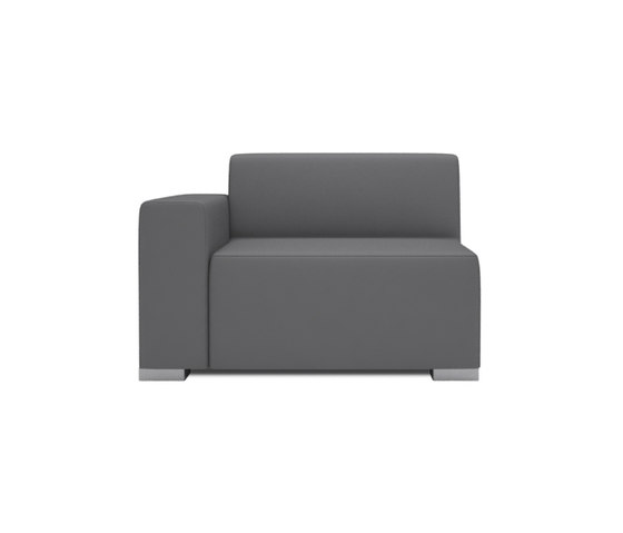 Block 90 1,5 Seat 1 arm by Design2Chill | Modular seating elements
