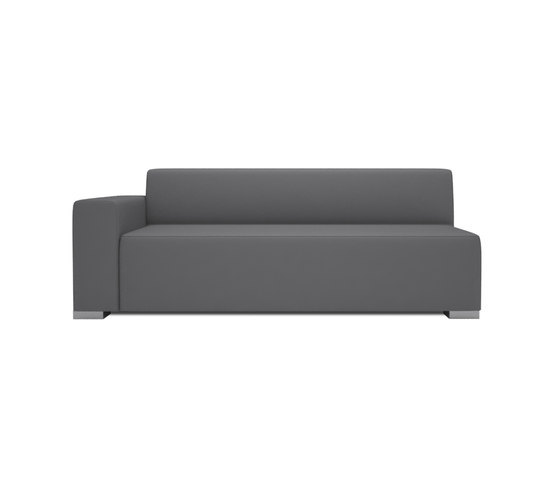 Block 90 3 Seater 1 arm by Design2Chill | Modular seating elements