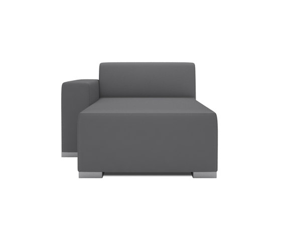 Block 90 Longschair 1 arm by Design2Chill | Modular seating elements