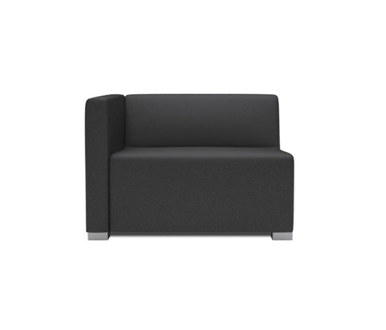 Square 1,5 Seater with 1 arm by Design2Chill | Modular seating elements