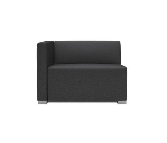 Square 1,5 Seater with 1 arm de Design2Chill | Éléments de sièges modulables