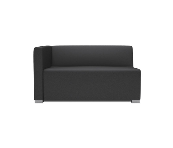Square 2 Seater with 1 arm by Design2Chill | Modular seating elements