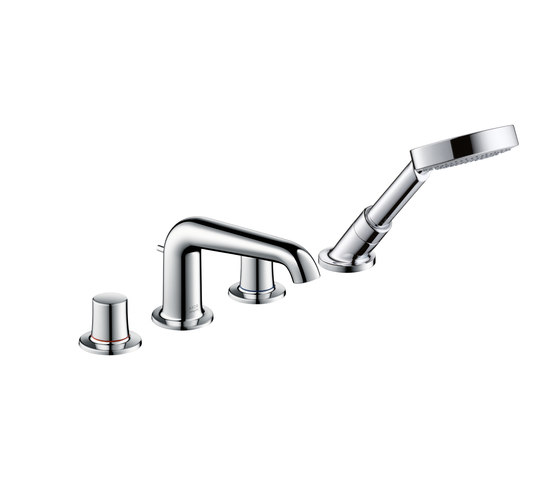 AXOR Bouroullec 4-hole tile mounted bath mixer DN15 by AXOR | Bath taps